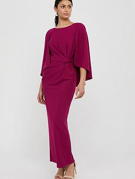 Monsoon Monsoon Cara Cape Maxi Dress - Pink Picture