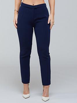 Kate Ferdinand Kate Ferdinand High Waist Slim Leg Trousers - Navy Picture