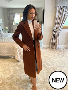 michelle-keegan-longline-double-breasted-coat-brown