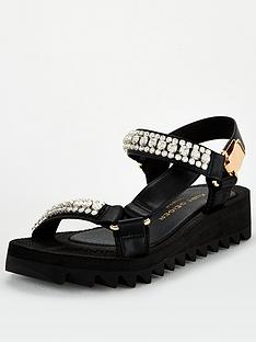 kurt-geiger-london-orion-2-flat-sandal-black