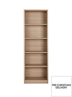 home-essentials--nbspmetro-tall-wide-extra-deep-bookcase-oak-effect