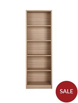 home-essentials--nbspmetro-tall-wide-extra-deep-bookcase-oak-effect