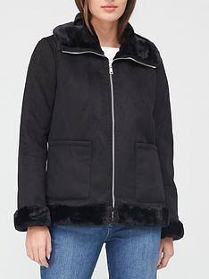 lauren-by-ralph-lauren-faux-suede-shearling-jacket-black