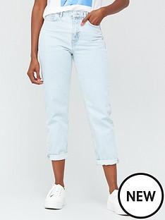 v-by-very-high-waist-mom-jean-bleach-wash