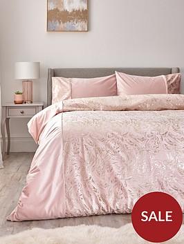 alexis-marble-foil-and-velvet-duvet-cover-set-pink