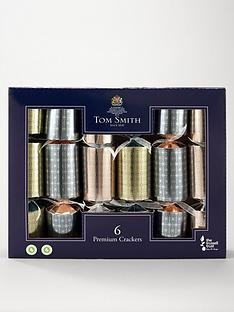 tom-smith-set-ofnbsp6-mixed-metallics-premiumnbspchristmasnbspcrackers