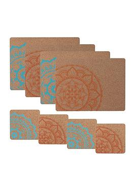 Typhoon Typhoon World Foods 8-Piece Cork Coaster And Placemat Set Picture
