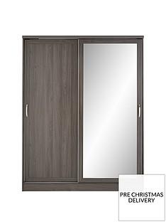 camberley-2-sliding-door-mirrorednbspwardrobe-dark-oak-effect