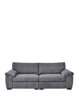 Product photograph showing Amalfi 4 Seater Standard Back Fabric Sofa