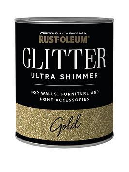 Rust-Oleum Rust-Oleum Glitter Ultra Shimmer Gold 250Ml Picture