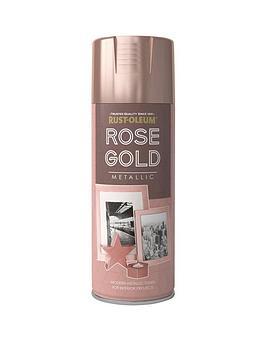 Rust-Oleum Rust-Oleum Elegant Metallic Rose Gold 400Ml Picture