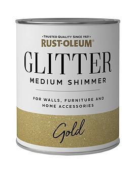 Rust-Oleum Rust-Oleum Glitter Medium Shimmer Paint &Ndash; Gold 250Ml Picture