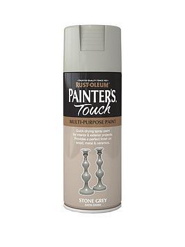 rust-oleum-painterrsquos-touch-stone-grey-satin-finish-multi-purpose-spray-paint-400ml