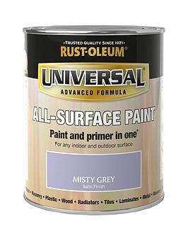 Rust-Oleum Misty Grey Universal Metal And All-Surface Satin Finish Paint - 750Ml