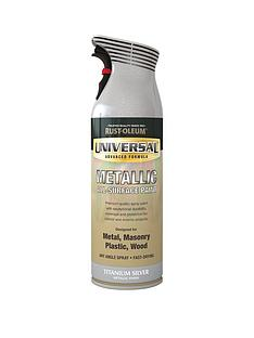 rust-oleum-titanium-silvernbspuniversal-metal-and-all-surface-spray-paint-titanium-silver-400ml