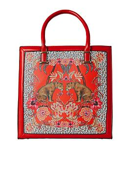 Joe Browns Joe Browns Borneo Leopard Bag - Red Picture