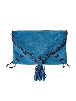 Joe Browns Joe Browns Sassy Suede Whip Stitch Bag - Blue Picture
