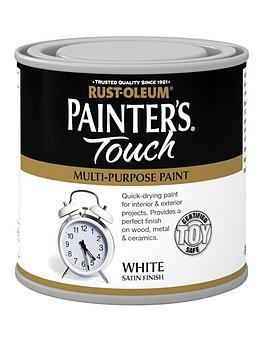 Rust-Oleum Painter&Rsquo;S Touch Toy Safe Satin Finish Multi-Purpose Paint &Ndash; White 250 Ml