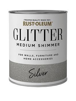 Rust-Oleum Glitter Medium Shimmer Paint &Ndash; Silver 250Ml