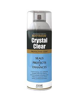 Rust-Oleum Rust-Oleum Crystal Clear Spray Paint Matt 400Ml Picture