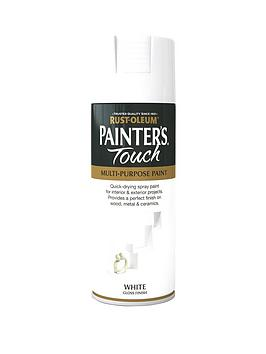 Rust-Oleum  Painter&Rsquo;S Touch White Gloss Finish Multi-Purpose Spray Paint - 400 Ml
