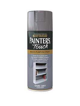 Rust-Oleum Rust-Oleum Dark Grey Gloss Finish Multi-Purpose Spray Paint -  ... Picture