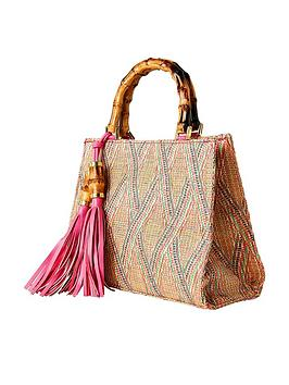 Joe Browns Joe Browns Beach Hut Tassel Bag - Pink Picture
