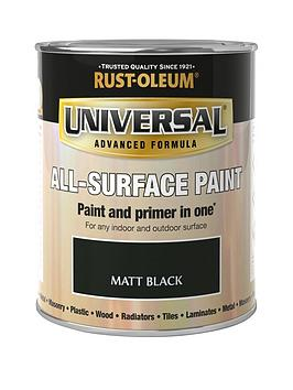 Rust-Oleum Rust-Oleum Universal Metal And All Surface Paint - Matt Black  ... Picture