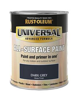 Rust-Oleum  Universal Metal And All Surface Paint - Dark Grey Gloss 750Ml