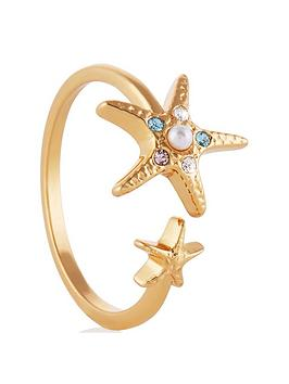 Olivia Burton Olivia Burton Olivia Burton Under The Sea Starfish Ring Gold Picture