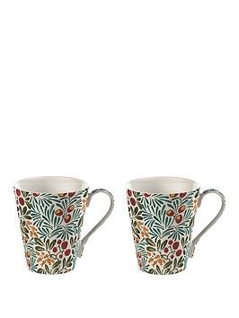 V&A V&A Victoria And Albert Yew & Arbutus Conical Boxed Mug Set Of 2 Picture