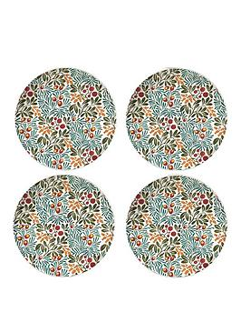 V&A V&A Victoria And Albert Yew & Arbutus Set Of 4 Side Plates Picture