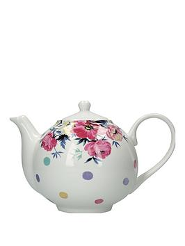 Kitchencraft Kitchencraft Mikasa Clovelly Pink Floral Spot Tea Pot Picture