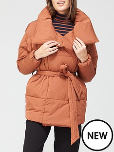 v-by-very-short-wrap-padded-jacket-spice