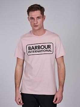 barbour-international-essential-large-logo-t-shirt-pink