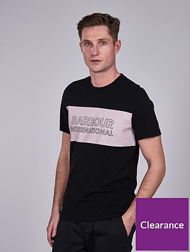 barbour-international-panel-logo-t-shirt-black
