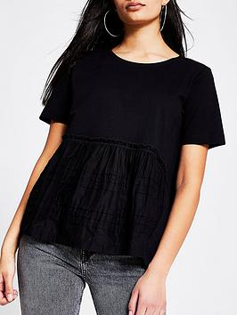 River Island River Island Smock Jersey Tee - Black Picture