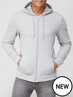 farah-farah-melange-zip-through-hoodie