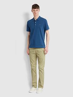 farah-melange-short-sleeve-polo-shirt-blue