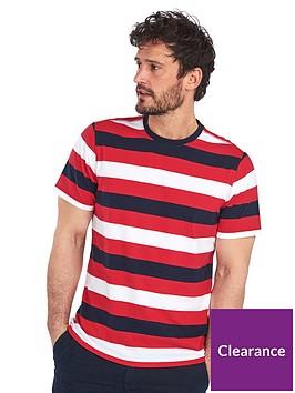 barbour-duridge-stripe-t-shirt-red