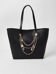 river-island-layered-chain-embellished-shopper-bag-black