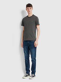 farah-stripe-ringer-t-shirt-green