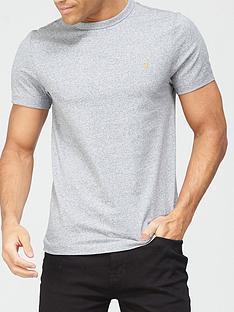 farah-melange-crew-neck-t-shirt-grey-marlnbsp