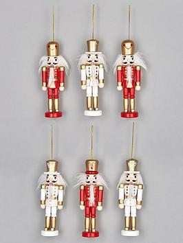 set-of-6-wooden-nutcracker-christmas-tree-ornaments