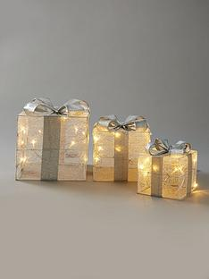 set-3-light-up-christmas-parcel-decorations-greysilver