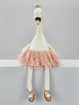 ballerina-swan-plush-christmas-room-decoration
