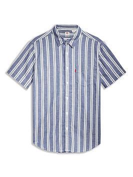 levis-vertical-stripe-shirt-blue