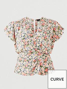 ax-paris-curve-floral-wrap-print-top-multi