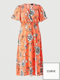 ax-paris-curve-floral-printed-wrap-maxi-dress-orange
