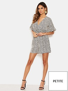 ax-paris-petite-printed-wrap-playsuit-cream